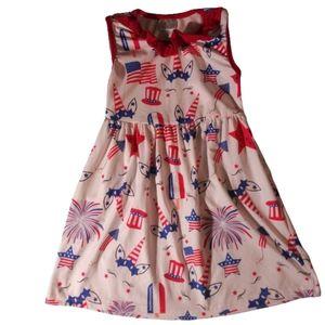 Girls patriotic politics Summer dress sz 4/5 soft